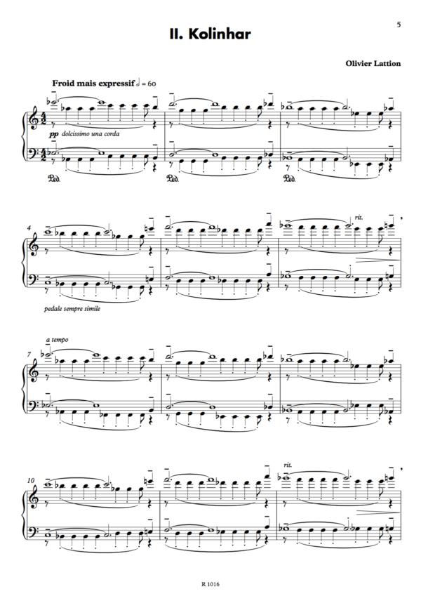 Sonate spatiale : 2. Kolinhar, page 1
