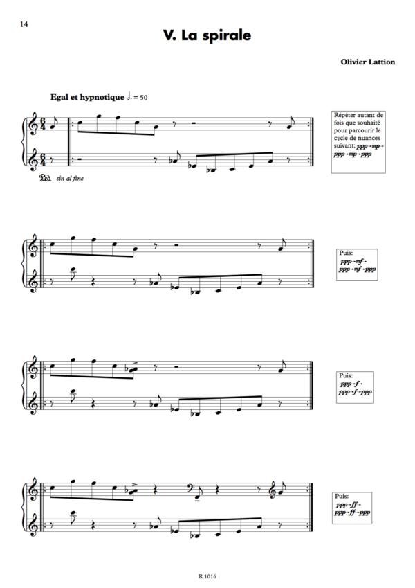 Sonate spatiale : 5. La spirale, page 1