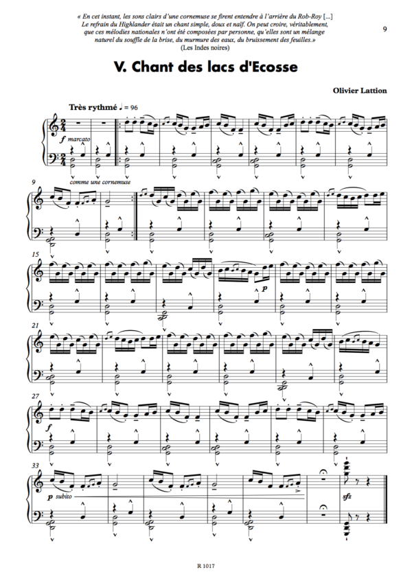 V. Chant des lacs d'Ecosse, page 1