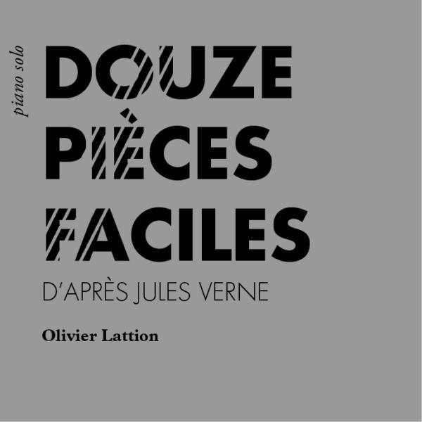 Douze pièce faciles d'après Jules Verne, page de couverture
