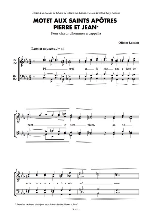 Motet aux saints apôtres Pierre et Jean - page 1