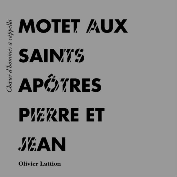 Motet aux saints apôtres Pierre et Jean - page de couverture