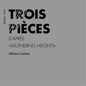 Trois pièce d'après Wuthering Heights (version pour harpe) - page de couverture