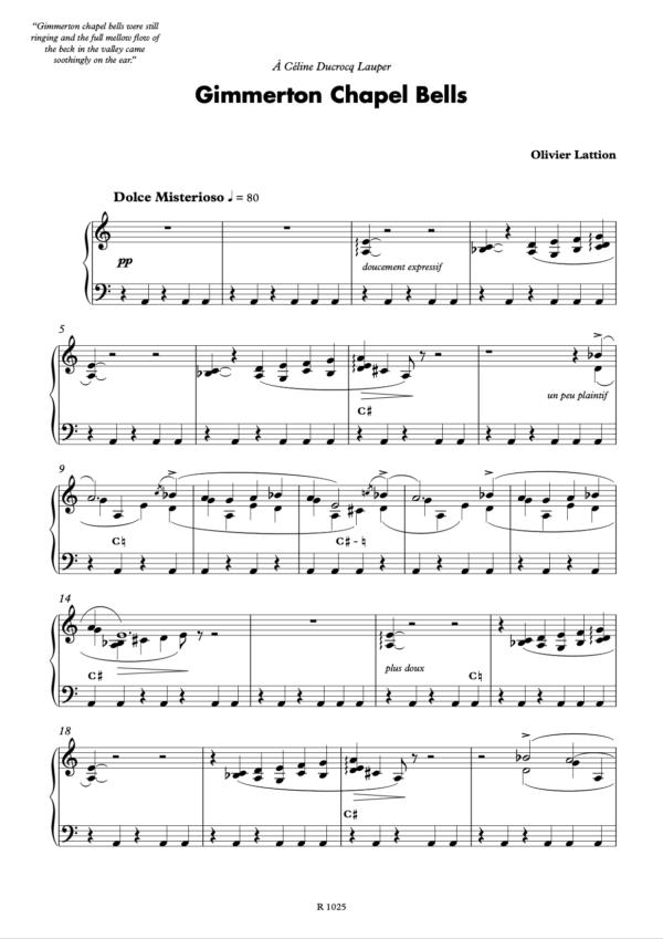 Gimmerton Chapel Bells pour harpe, page 1